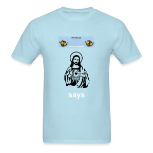 LEFT ON THE OUTSIDE men's heavyweight cotton Jesus t-shirt - Men's T-Shirt
