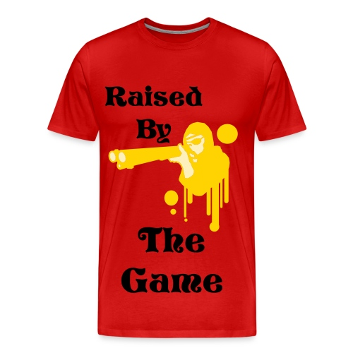 Raised By The Game Sniper Tee - Men's Premium T-Shirt