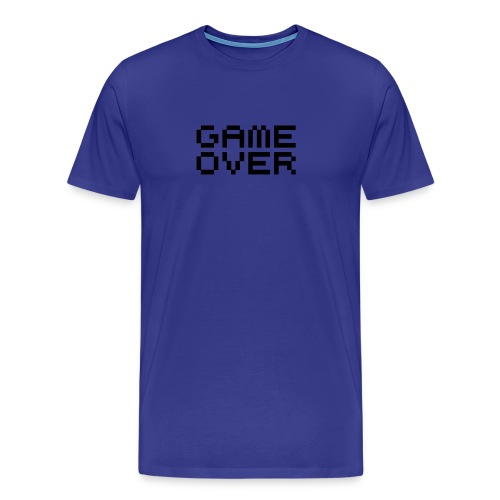 Game Over Blue - Men's Premium T-Shirt