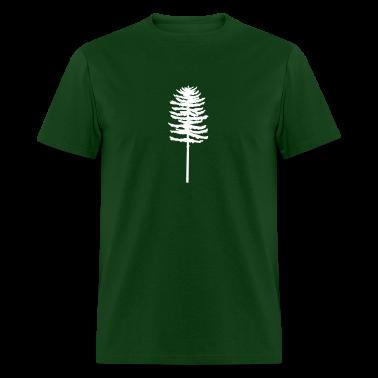 Forest green tall skinny green tree Men