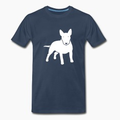Navy dogz_minibull_v2 T-Shirts (Short sleeve)
