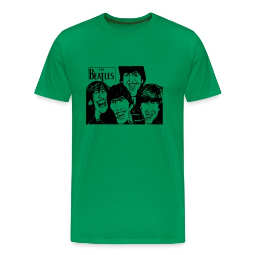 The Beatles - GRN/BLK - Men's Premium T-Shirt