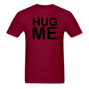 Men's 'Hug Me' Dark Red - Men's T-Shirt