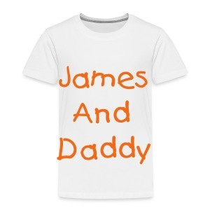 James and Daddy Toddler Tee - Toddler Premium T-Shirt