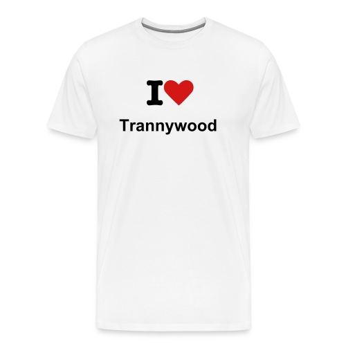 I Love Trannywood T shirt - Men's Premium T-Shirt