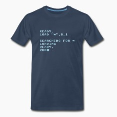 C64 Loading Screen T-Shirts (Short sleeve) Navy