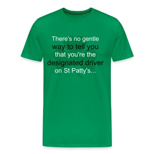 Men's Green 'DD' Shirt - Men's Premium T-Shirt