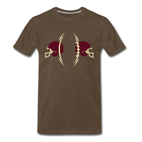 T-SHIRT Football-n-Helmets chocolate - Men's Premium T-Shirt