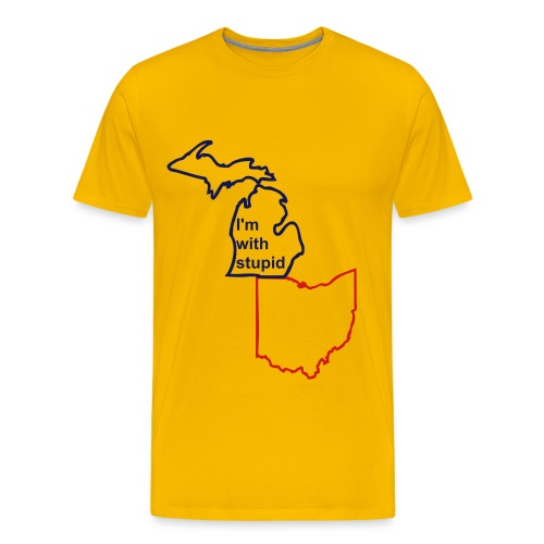 Michigan I'm with stupid shirt - Men's Premium T-Shirt