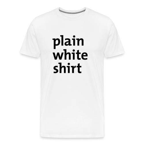 Plain white shirt - Men's Premium T-Shirt
