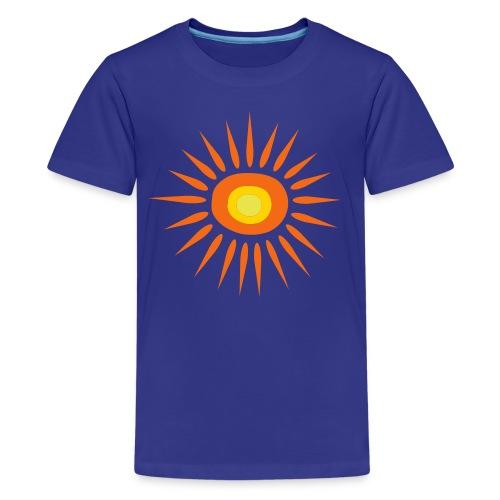Kool Kids Tees 'Big Sun' Youth Tee, Blue - Kids' Premium T-Shirt