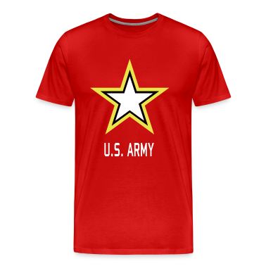 U.S. Army Star red shirt for man