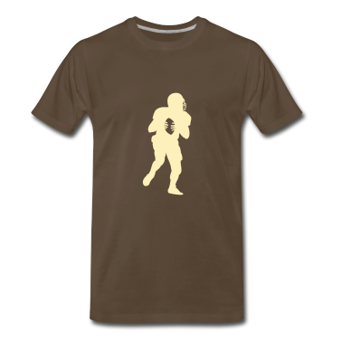 Chocolate american_football_player T-Shirts (Short sleeve)