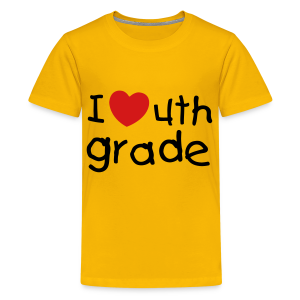 I Heart 4th grade! - Kids' Premium T-Shirt