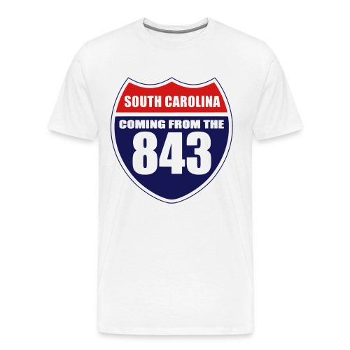 Coming From The 843 Basic T-Shirt - Men's Premium T-Shirt