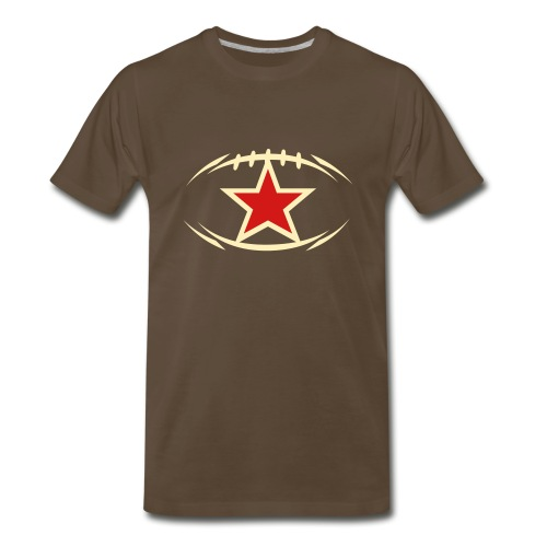 T-SHIRT Football newstyle STAR chocolate - Men's Premium T-Shirt