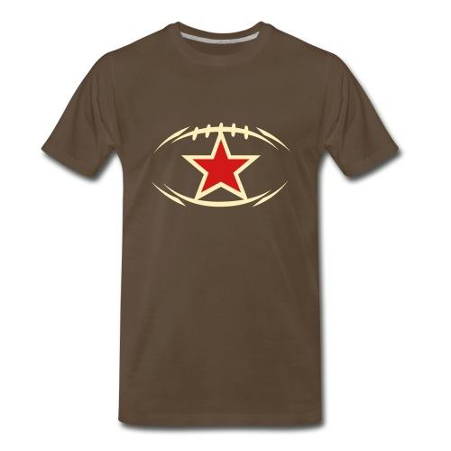 T-SHIRT Football newstyle STAR chocolate - Men's Premium T-Shirt