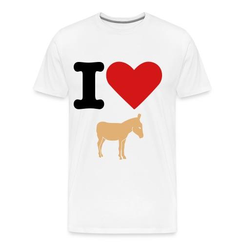 I love Ass - Men's Premium T-Shirt