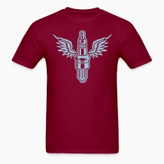 Burgundy spark plug T-Shirts (Short sleeve)