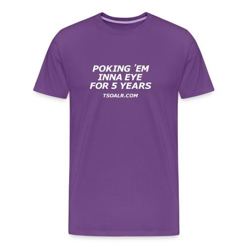 5th Anniversary Purple - Men's Premium T-Shirt