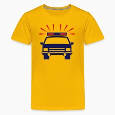 Yellow police Kids Shirts