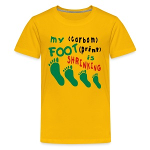 Shrinking Carbon Footprint - Kids' Premium T-Shirt