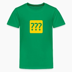 Three Question Marks Kids Shirts Kelly green