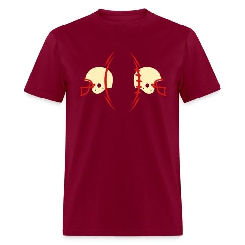 T-SHIRT Football-n-Helmets burgundy - Men's T-Shirt