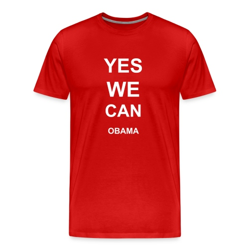 Men's Premium T-Shirt - Yes We Can - Obama