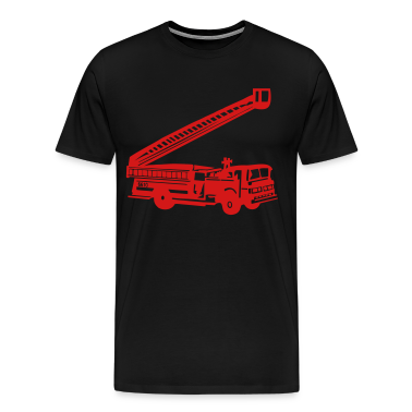 Black Fire Department - Fire Engine - Firefighter T-Shirts (Short sleeve)
