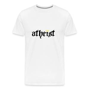 Atheist T Shirt (White) - Men's Premium T-Shirt