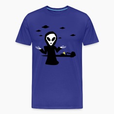 Royal blue Alien Accident T-Shirts (Short sleeve)