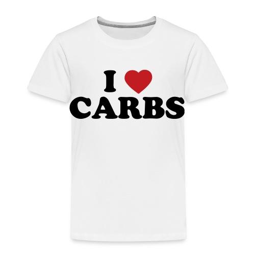 Toddler I Love Carbs, White - Toddler Premium T-Shirt