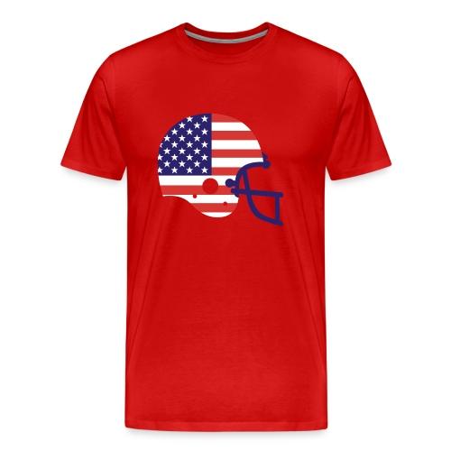 T-SHIRT Football Helmet AMFlag red - Men's Premium T-Shirt