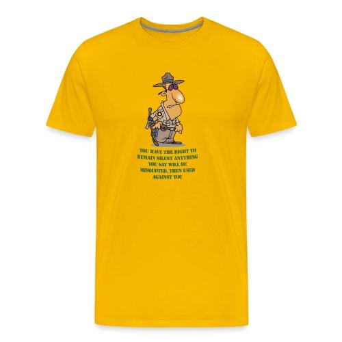 Remain Silent - Men's Premium T-Shirt
