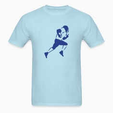 Sky blue american_football_running_back_v1 T-Shirts (Short sleeve)