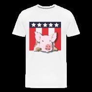 T-Shirts ~ Men's Premium T-Shirt ~ Lipstick on a Pig