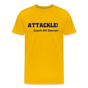 Attackle! (Not Quite Old Gold) - Men's Premium T-Shirt