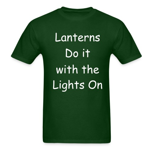 Lanterns do it with the Lights on - Men's T-Shirt