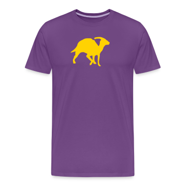Purple prehistoric dinosaur T-Shirts (Short sleeve)