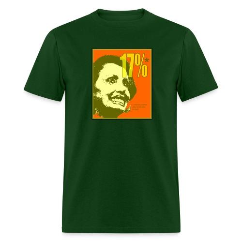 Nancy Pelosi - 17% Job Approval Rating - Men's T-Shirt