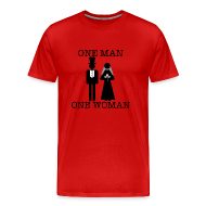 T-Shirts ~ Men's Premium T-Shirt ~ One Man, One Woman - Men's Tee