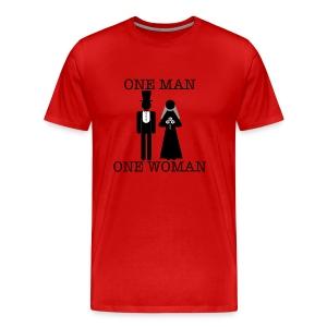 One Man, One Woman - Men's Tee - Men's Premium T-Shirt