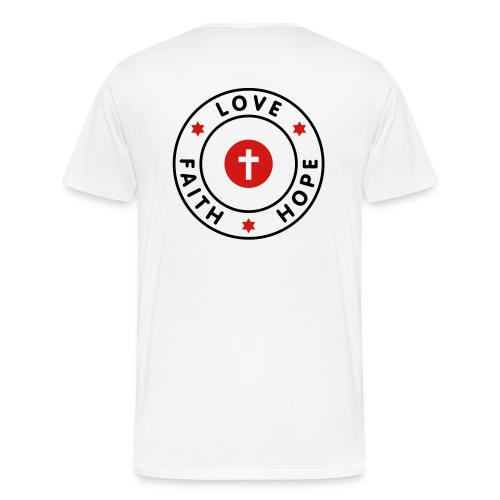Faith, Hope and Love T-Shirt - Men's Premium T-Shirt