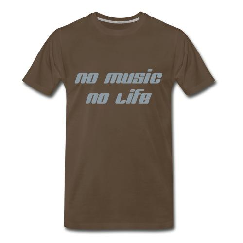 No Music No life - Men's Premium T-Shirt