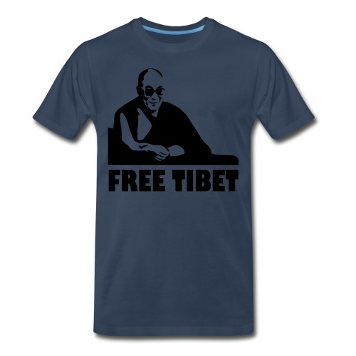 FREE TIBET  BLACK - Men's Premium T-Shirt