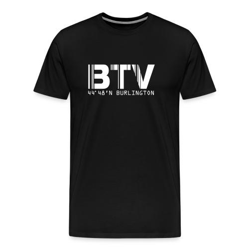 Burlington Airport Code Vermont BTV Fitted T-Shirt - Men's Premium T-Shirt
