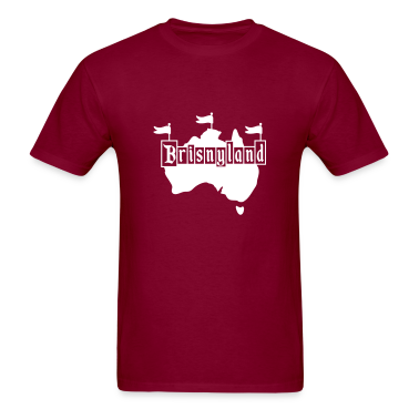 Burgundy Brisnyland T-Shirts (Short sleeve)