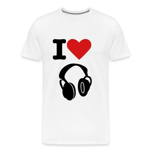 TLA!!! i love music t shirt - Men's Premium T-Shirt