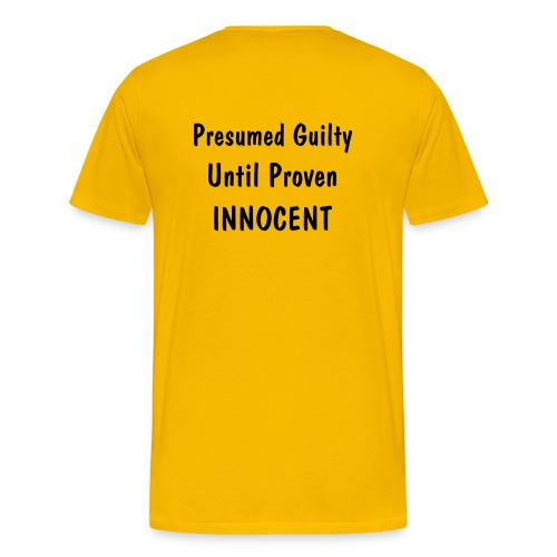 Presumed Guilty - Men's Premium T-Shirt